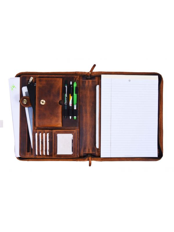 Austin Leather Organizer - Caramel Brown