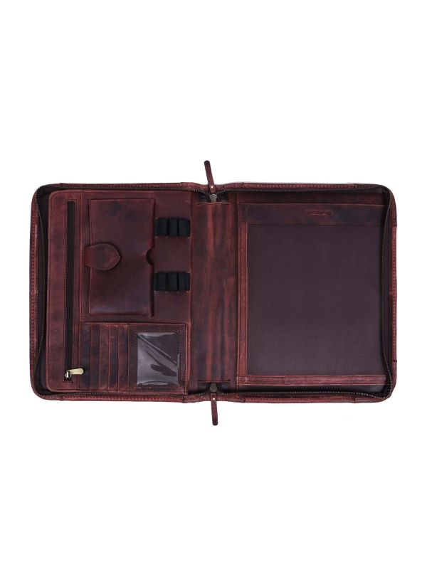 Austin Leather Organizer - Walnut Brown