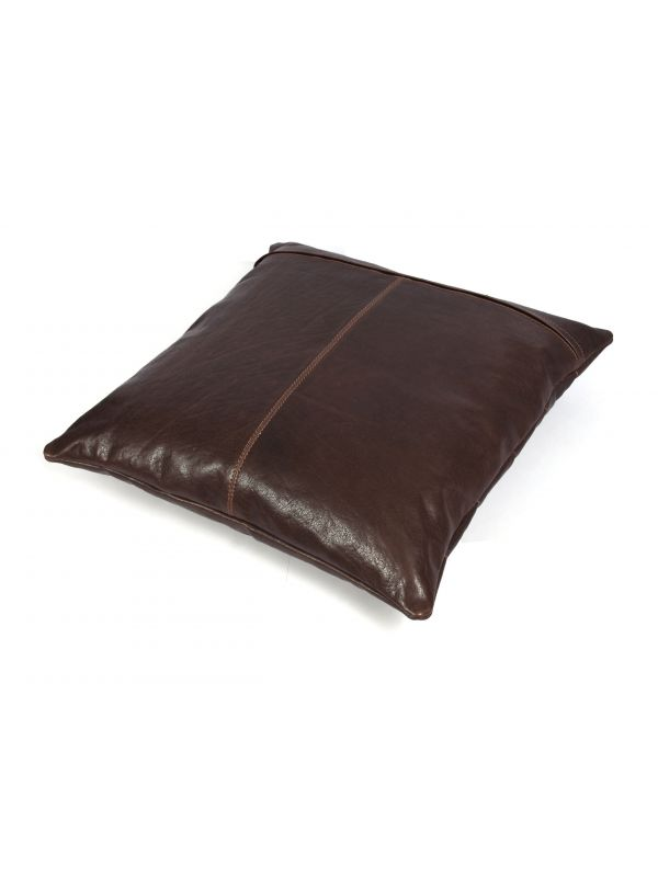 Baltimore Leather Pillow Cover - Dark Brown