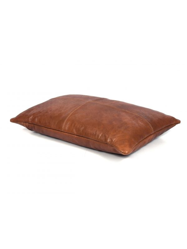 Arizona Leather Pillow Cover - Brown