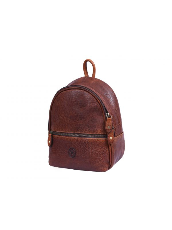 Modena Mini Leather Backpack - Caramel Brown