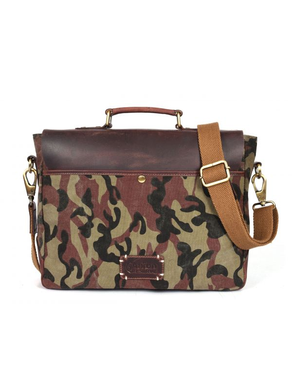 Argos Camouflage Messenger Bag - Camo Green