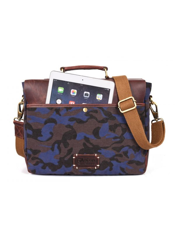 Argos Camouflage Messenger Bag - Camo Blue