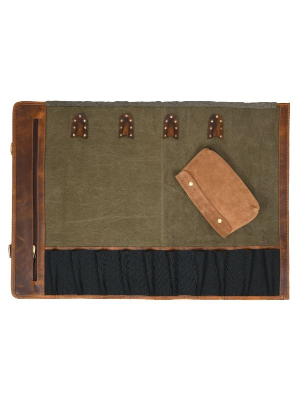 Marchena Canvas Knife Roll - Gingerbread
