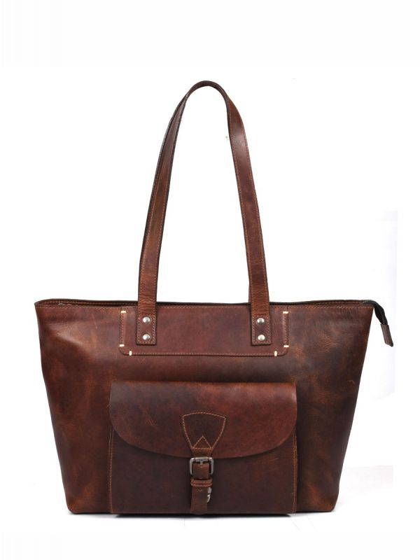 Brittany Travel Tote Bag – Walnut Brown