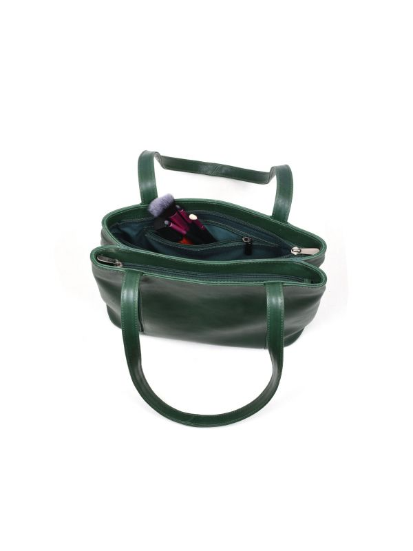 Toledo Leather Handbag -  Pine Green