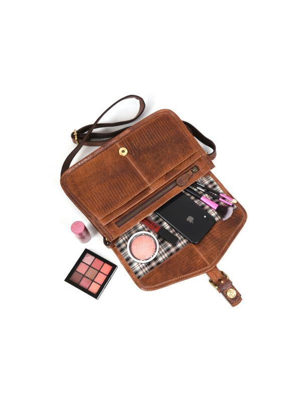 Ourense Leather Crossbody Bag - Gingerbread