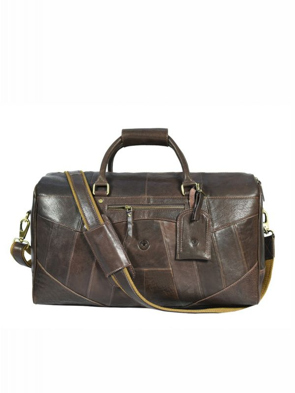 Marbella Leather Travel Bag - Coffee Brown