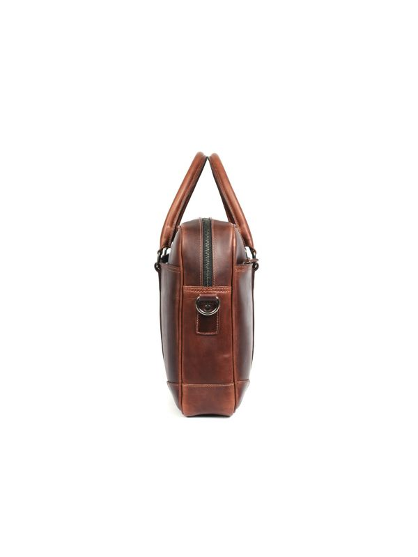 Broadway Leather Office Bag – Walnut Brown