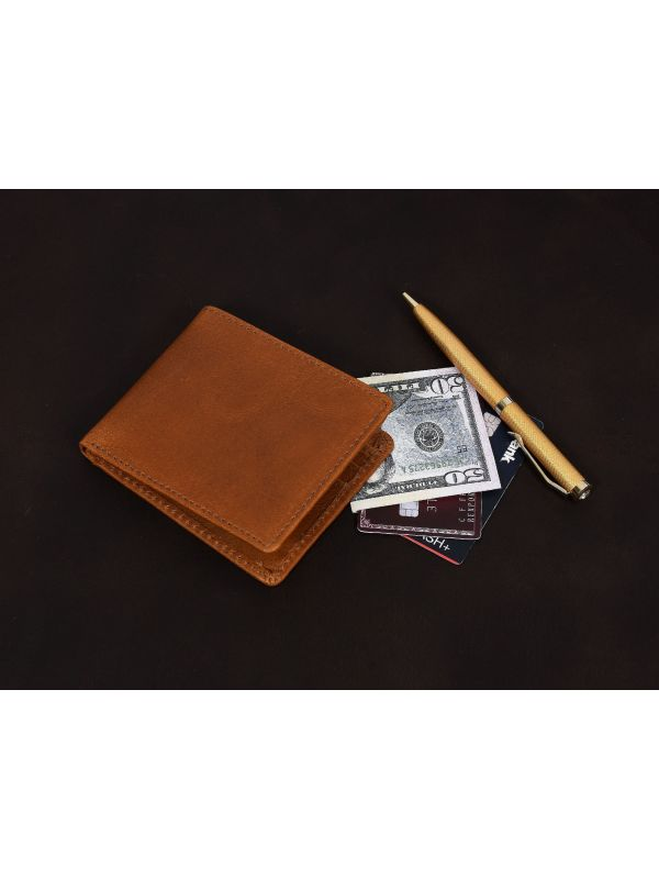 Osuna Mens Leather Wallet - Chestnut