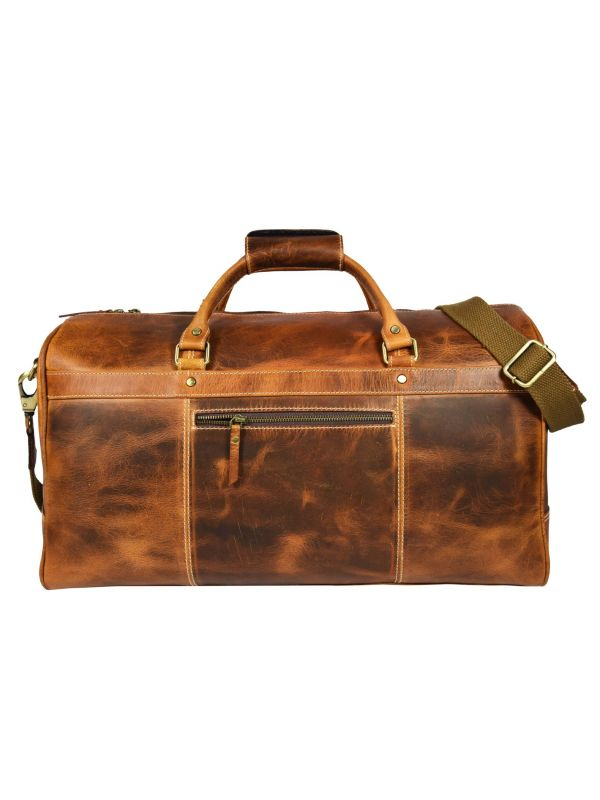 Bolzano Leather Duffle Bag - Caramel Brown