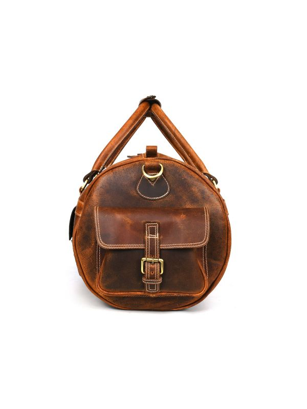Pamplona Leather Duffle bag - Caramel Brown