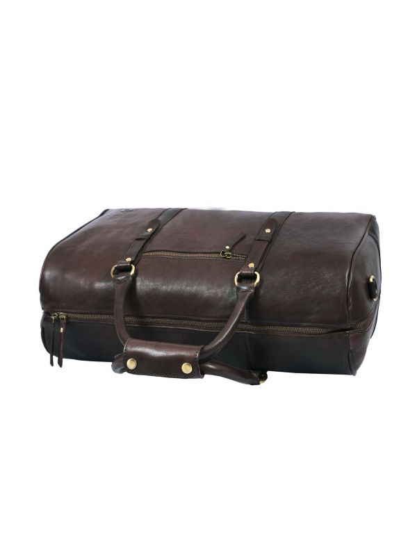 Taranto Leather Weekender Bag Combo - Walnut Brown