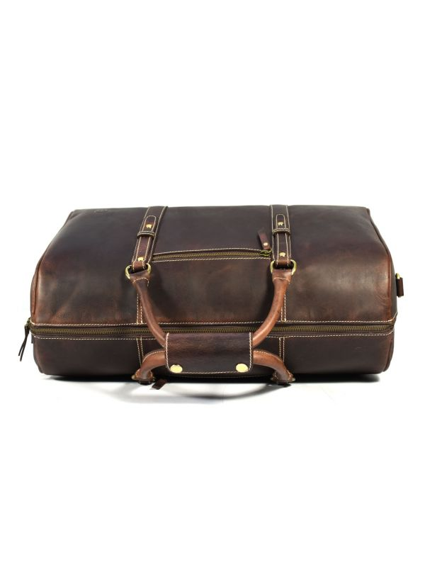 Taranto Leather Weekender Bag  - Walnut Brown